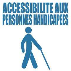 Logo accessibilité aux personnes handicapées.