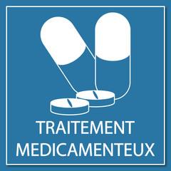 Logo traitement médicamenteux.
