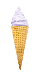 Purple Soft Serve in a Waflle Cone