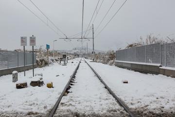 Nevicata Guidonia Montecelio Tivoli 2018