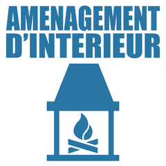 Logo aménagement d'intérieur.