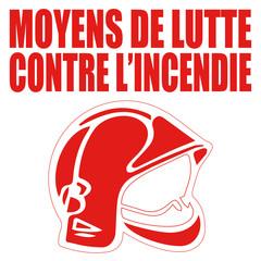 Logo moyens de lutte contre l'incendie.
