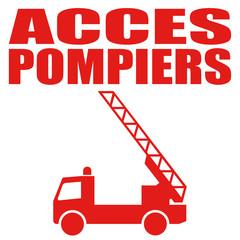 Logo accès pompiers.