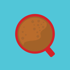 hot coffee cup- vector illustration