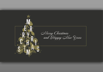 Christmas Card or Envelope Layout