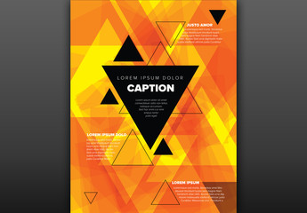 Poster Layout with Triangular Elements