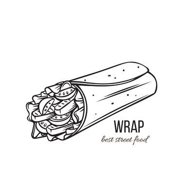 Tortilla wraps outline
