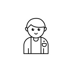 Nurse icon. Element of blood donation icon for mobile concept and web apps. Thin line Nurse icon can be used for web and mobile