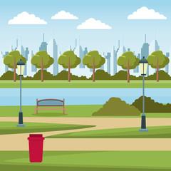 empty city park