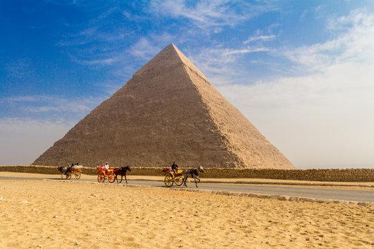 The great Giza Pyramids, Giza/Cairo, Egypt