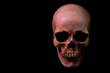 Red Skull on Dark Solid Background