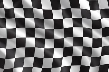 Vector rally or car races flag