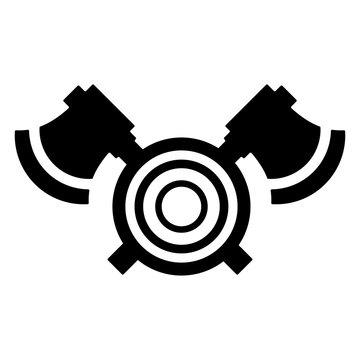 Lumberjack Logo. Timber Icon. Logging Symbol. Vector Eps 08.