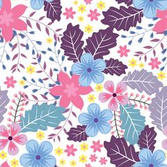 Floral Flower Seamless Pattern Wallpaper Background Wrap Illustration