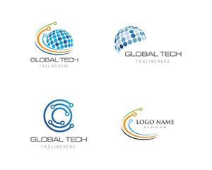 Business technology logo template