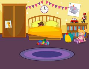 Interior of childs bedroom