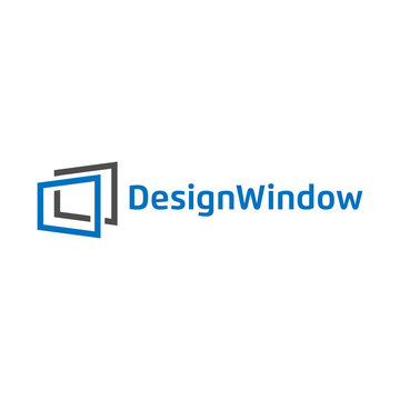 Illustration of abstract window design logo template