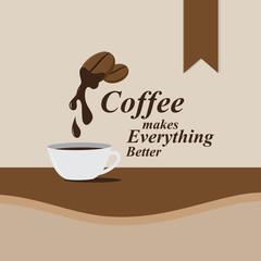 flat style coffee design, vector illustration