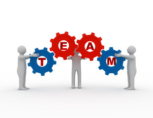 Teamwork concept with gears