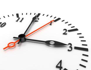3d clock illustration on white background