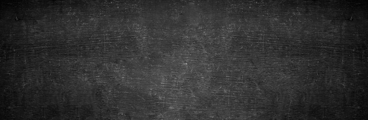 Blank wide screen Real chalkboard background texture in college concept for back to school panoramic wallpaper for black friday