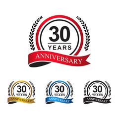 30th anniversary years circle ribbon