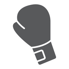 Boxing glove glyph icon, equipment and sport, glove sign, vector graphics, a solid pattern on a white background, eps 10.