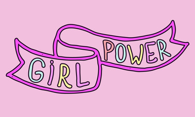 Girl power quotes and illustrations. hand drawn lettering