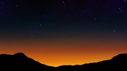 a night scenery with starry sky