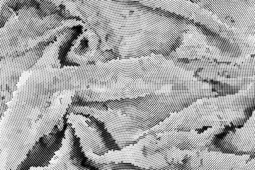 Stylized fabric folds background halftone vector