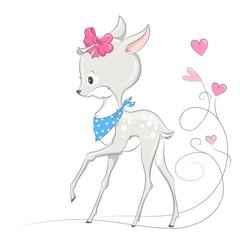 Animal illustration cute little deer