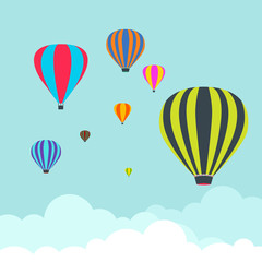 Balloon Air Travel Transport Festival in the Sky Vector