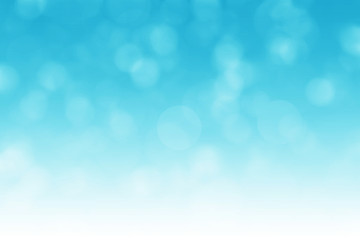 Abstract blue bokeh background with light gradient effect