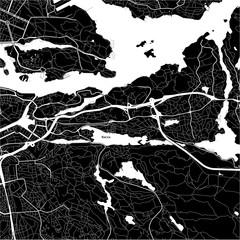 Area map of Nacka, Sweden