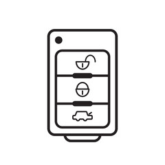 car key icon on white background. vector design illustration.