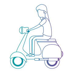 woman driving scooter motorcycle