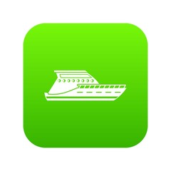 Yacht icon digital green for any design isolated on white vector illustration