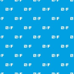 Letters BF black friday and percentage pattern vector seamless blue repeat for any use