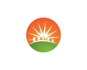 Sun  logos and symbol design icon