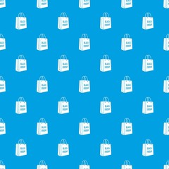 Bag black friday pattern vector seamless blue repeat for any use