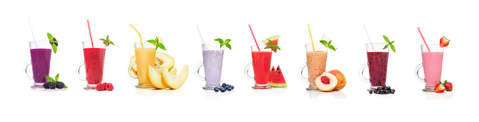 Different types of smoothies