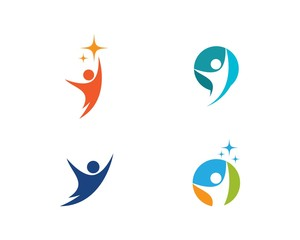 success people logo vector