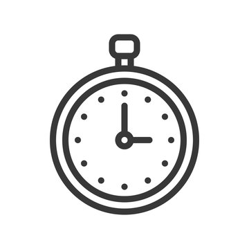 stop watch or chronometer icon pixel perfect editable stroke outline