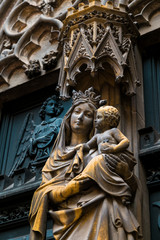 Mary's Statue - St. Martin's Church in Colmar, France