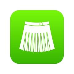 Tennis female skirt icon digital green for any design isolated on white vector illustration