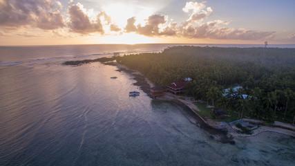 aerial view over ocean 101 siargao