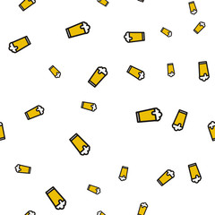 Glass beer seamless pattern