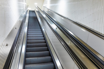 Moving staircase or escalator