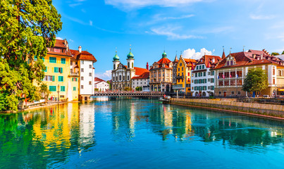Tuinposter Europese Plekken Old Town architecture of Lucerne, Switzerland