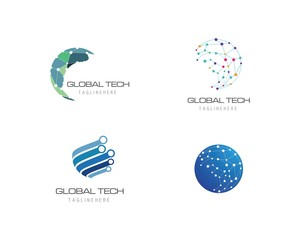 Business technology logo template